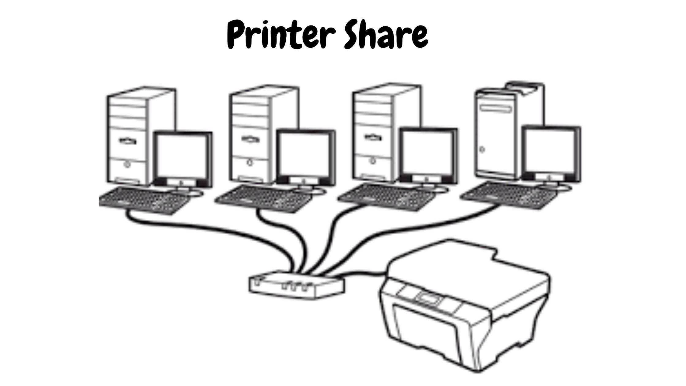 Printer को शेयर में कैसे करते है